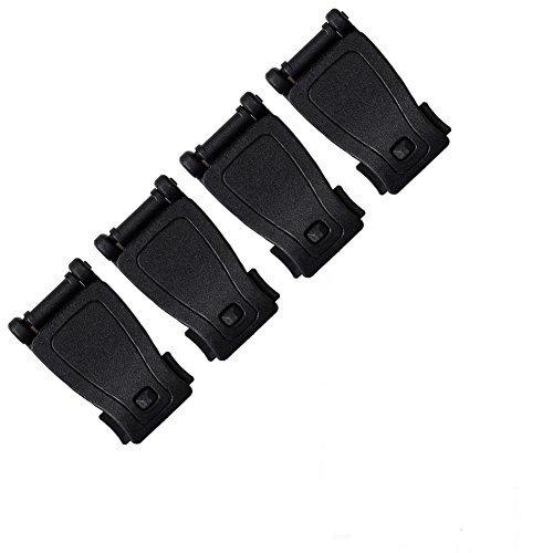 OneTigris 4 Stück Molle Gurtband Verbindungsklammern Strap Buckle für Molle Rucksack Tasche (Schwarz)