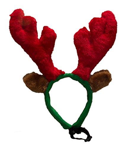 Hund Elchgeweih Rentier Haarreif Hunde Katze Weihnachtsmütze Nikolausmütze Rot (Hund Weihnachtsmütze)