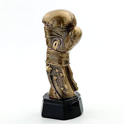 Figur,Statue,Statuen,Statuette,Skulpturen,Electroplate Boxhandschuh Trophy Vergoldete Übereinstimmen Trophäen Boxing Trofeo Andenken Für Zu Hause Dekoration Harz Art Deco Skulptur Desktop Ornamente