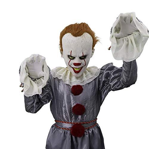 Kostüm Einzigartige Clown - Dreameryoly Horror Clown Maske, Joker Maske, Horror Clown Maske Cosplay Kostüm Requisiten Für Halloween Party
