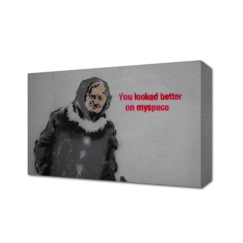 banksy-you-looked-better-on-myspace-canvas-art-print-box-canvas-ready-to-hang-banksy-48-inch-x-30-in