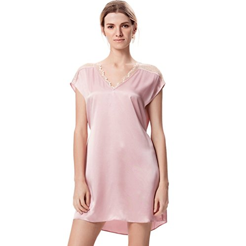 0 Touch Silk Sleeping Rock Süßes Pure Silk Pyjamas Pink
