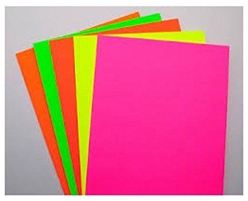 Zap Impex ® Bogen A4 Größe Doppelseitiges Multicolor Fluorescent Neon Craft (verschiedene Farben) Packung mit 50 Stück