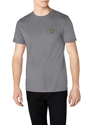 Lyle & Scott Herren T-Shirt Crew Neck, Grau (Mid Grey Marl T28) XX-Large -