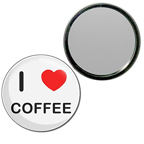 I Love Coffee - 55mm ronde de miroir compact