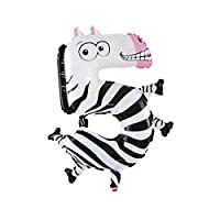 Foil Pet Balloon - SODIAL(R)Cute kids Pet Numbers Foil Balloon Animal Air walker Helium Fun Birthday Parties Decor, Zebra 5