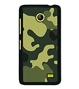 Fuson Designer Back Case Cover for Nokia X2 (Military design Military print Green yellow Black)