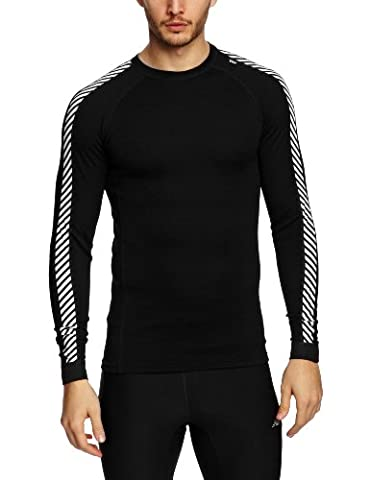 Helly Hansen Men's Lifa Warm Ice Crew Base Layer Top - Black, Large