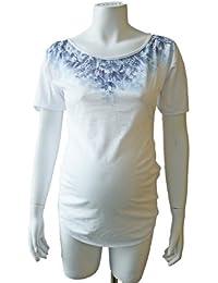 Mama Licious Garden 2/4 Top White/ Azur 13060966-XL