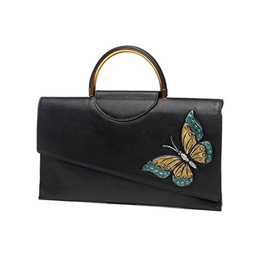 Home Monopoly Sacchetto di mano del messaggero del cerchio di modo della borsa della borsa femminile / con la cinghia di spalla, cinghia di polso ( Colore : Gold purple ) Gold green