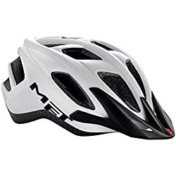 MET Funandgo Casco de Ciclismo, Unisex Adulto, Blanco, 52-57 cm