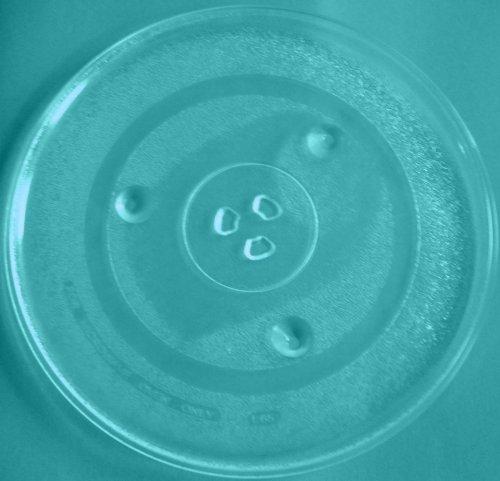 Mikrowellenteller / Drehteller / Glasteller für Mikrowelle # ersetzt Quigg Mikrowellenteller # Durchmesser Ø 31,5 cm / 315 mm # Ersatzteller # Ersatzteil für die Mikrowelle # Ersatz-Drehteller # OHNE Drehring # OHNE Drehkreuz # OHNE Mitnehmer
