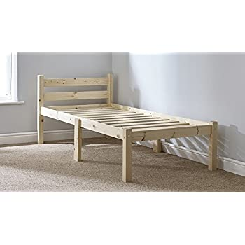 Single 3ft wooden pine bed frame can be used by adults for Used wooden bed frames