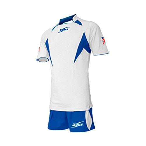 Zeus Herren Volleyball Fußball Set Trikot Hose Shirt Shorts Indoor Handball Training Ausbildung KIT TONY WEISS ROYAL (XL)