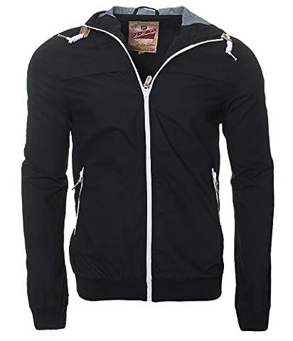 Authentic Style Übergangsjacke sportliche Jacke Herrenjacke leichte Jacke 3172 (XL, Schwarz)