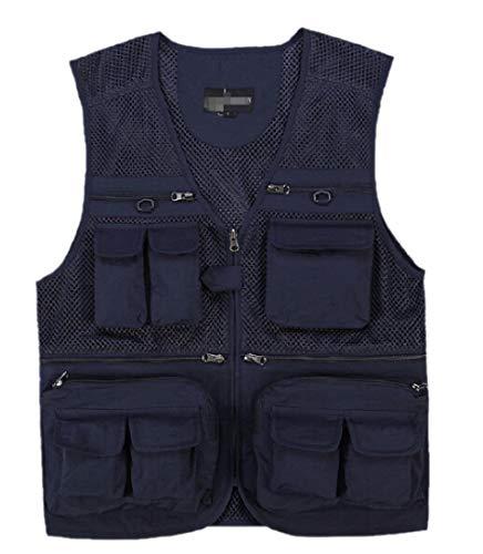 security Sicherheitsweste für Herren, mit Mehreren Taschen, leicht, für Outdoor-Reisen,