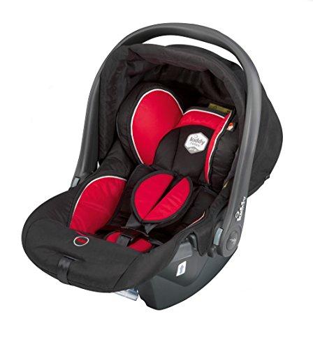 Kiddy 41490RPE71 Relax Pro Babyschale, Liegefunktion, Gruppe 0+ (0-13 kg, Geburt-ca. 18 Monate), schwarz-rot