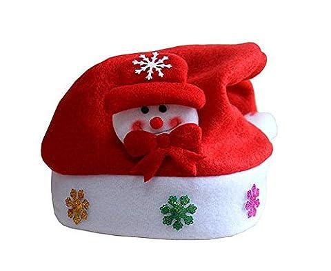Hevaka Bonhomme de neige appliques Noël enfants Cartoon Hat