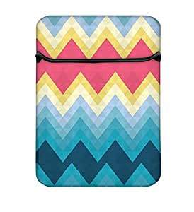 Snoogg Awesome Colour Chevron 14 Inch Laptop Case Flip Sleeve Bag Computer Cover
