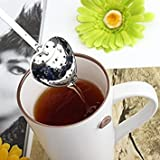 Tradico® Stainless Steel Heart-Shaped Tea Infuser Strainer Filter Spoon One Piece