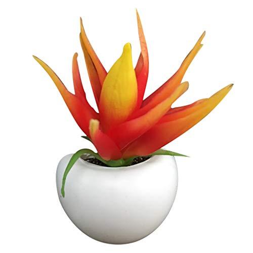 lschrank Aufkleber, Home Decor künstliche Blume Sukkulente Kühlschrank Aufkleber Bonsai Magnet Green Plant ()