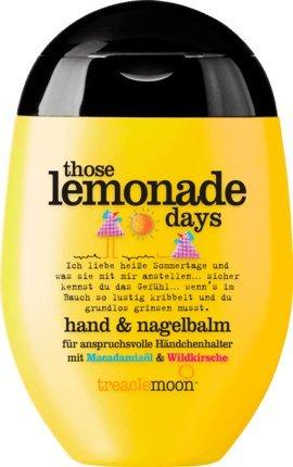 Handcreme / Balsam TREACLEMOON - THOSE LEMONADE DAYS (Macadamiaöl + Wildkirsche / 75 ml) VEGANES PRODUKT