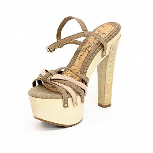 Sam Edelman aperto punta vuol dire scarpe con il tacco, taglia 3,5, da £110 (Toasted-oat-blush)
