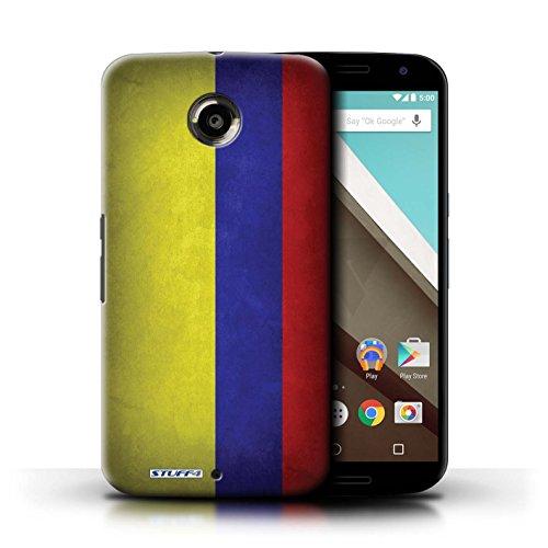 Kobalt® Imprimé Etui / Coque pour Motorola Nexus 6 / Pays de Galles/gallois conception / Série Drapeau Columbia/Colombie