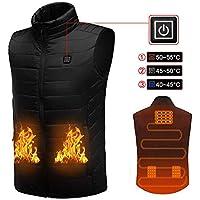 Chaleco eléctrico con calefacción, chaleco ligero con calefacción para hombres y mujeres, calefacción de carga USB, temperatura ajustable de 3 puestos, adecuado para esquí al aire libre, senderismo