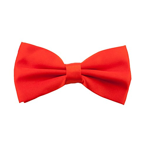 Kinder Fliege Schleife Größe verstellbar Festlichkeit Hochzeit Anzug Smoking (Rot)