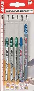 MPS 5–qualité professionnelle-lames pour scie sauteuse-bois et métal-lame pour scie sauteuse - 3188
