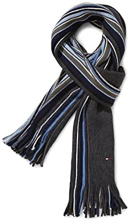 Tommy Hilfiger Men's Scarf -  Blue - Mehrfarbig (498 INSIGNIA BLUE-PT/ MULTI) - One size