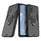 Spazy Case® Oppo A74 5G Dual Layer Armor Defender Full Body Protective + PC Hybrid Kickstand Back Case for Oppo A74 5G