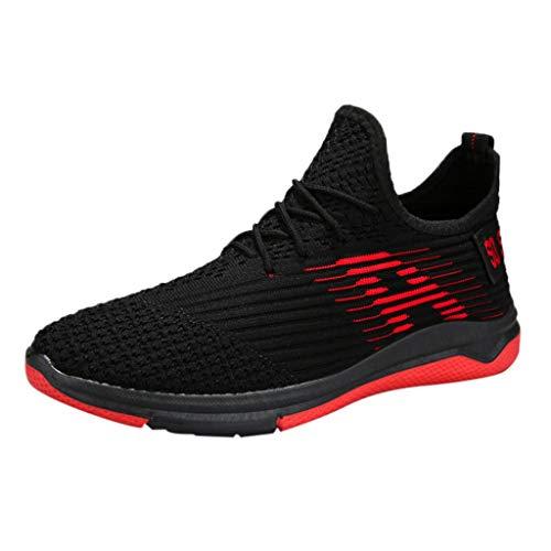 Xmiral Sportschuhe Herren Laufschuhe Verschleißfest Traillaufschuhe Schuhe Gymnastikschuhe Atmungsaktiv Gummisohle Wasserschuhe Strandschuhe Badeschuhe(Rot,40 EU)
