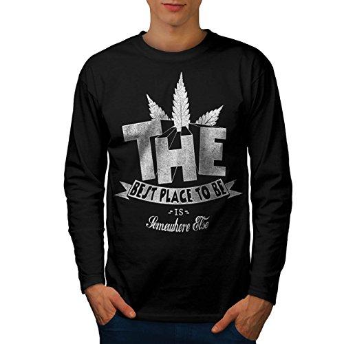 Beste Ort Gras Pot Rasta Beste Rauch Herren L Langarm-T-Shirt | Wellcoda (T-shirt Beste Ort,)