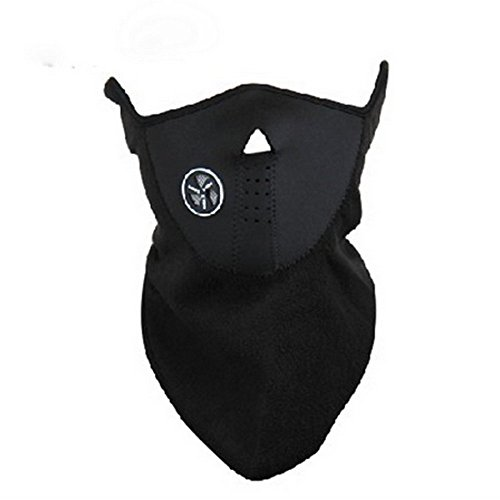 BlueBeach – schwarz Hals wärmer Gesicht Maske Radfahren Motorrad Bike Ski Helm Wind Schleier Snowboard Unisex staubdicht & Wind Beweis halbe Gesichtsmaske - 5