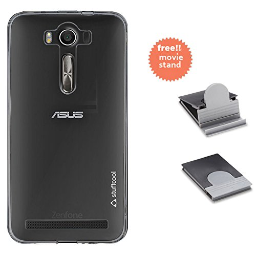 Stuffcool Pure Transparent Soft Back Case for Asus Zenfone 2 Laser ZE550K - Clear  available at amazon for Rs.99