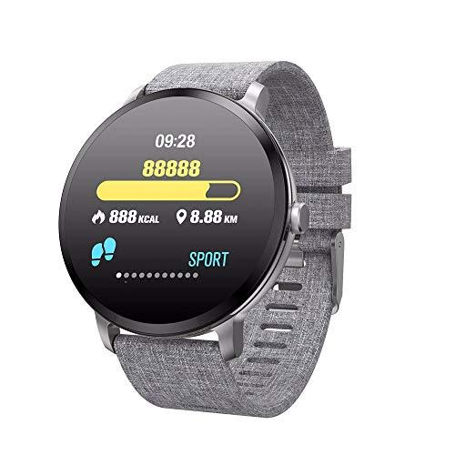 LRWEY Fitness Armband mit Pulsmesser, Kinder Frauen Männer Herzfrequenz Blutdruck Schrittzähler Kalorien Wasserdicht IP67 Smart Armband