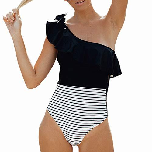 Cooljun Frauen Badeanzüge Bauchkontrolle Bademode Abnehmen Monokini Badeanzüge Frauen Schwimmen Tankini Gepolsterter Badeanzug Monokini Push Up Bikini Sets Bademode