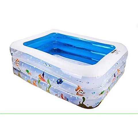 bebé niño piscina inflable familia bola marina piscina adulto piscina infantil baño inflable estanque Zona de juegos de agua mundo submarino ( Edición : Electric Pump , Tamaño : 130*90*45cm )