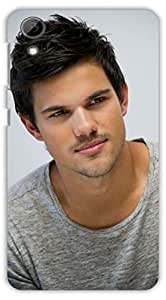 Crazy Beta Taylor Lautner American actor, model and martial artist Printed mobile back cover case for HTC Desire 728