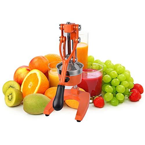 RBTT Obst und Gemüse saftiger Multifunktionskolben handgepresster Zitronensaftmittel, geeignet für schellfreies Obst und Gemüsepressen zu Hause Tisch Eisen grau