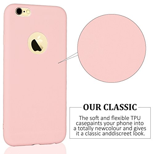 iPhone 6 Plus 6s Plus Hülle Blau TPU Silikon Handy Schutzhülle Handytasche Schutz Cover Case Schale Etui Weich Flexible Ultra Dünn Matt Kratzfeste Tasche Verschiedene Farben Rosa
