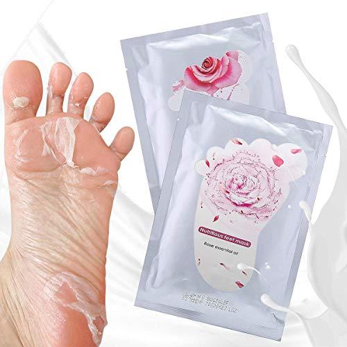 Y.F.M. 2 paia di calzini per peeling con estratto di rosa e di latte, per avere la pella morbida come quella di un bambino, rimuovendo i calli e la pelle morta. Peeling + maschera nutriente