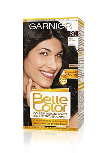 Garnier - Belle Color - Coloration permanente Noir - 80 Noir naturel Lot de 2