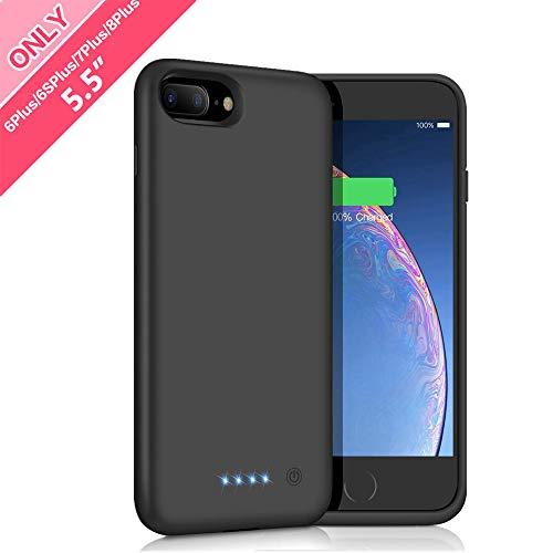 Cover Batteria iPhone 6 Plus/6s Plus/7 Plus/8 Plus,iPosible 8500mAh Custodia Ricaricabile Batteria Esterna Caricabatterie Cover Battery Case per iPhone 8 Plus/7 Plus/6s Plus/6 Plus [5,5''] Power Bank