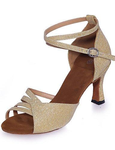 La mode moderne Non Sandales Chaussures de danse pour femmes personnalisables Glitter Paillettes mousseux mousseux évasées HeelPractice / sandales latine / Intérieur / professionnels US8.5 / EU39 / UK6.5 / CN40