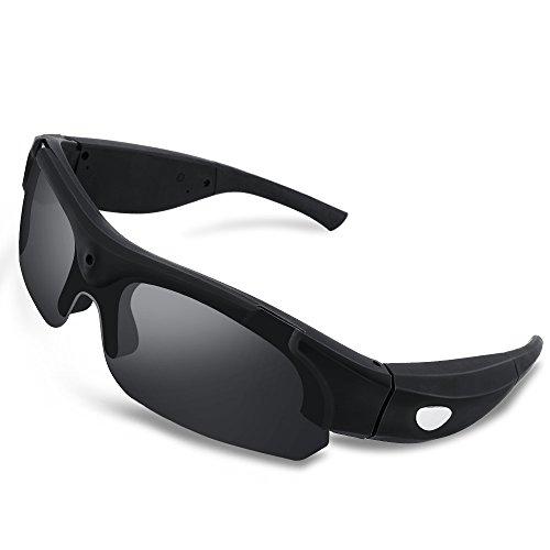 WISEUP 16GB 1920x1080P Full HD Versteckte Kamera Sonnenbrille Tragbare Spion Videobrillen mit Aufzeichnung und Fotografieren
