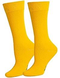 Sportsocken in Gelb für Männer. Herrenmode in Gelb bei