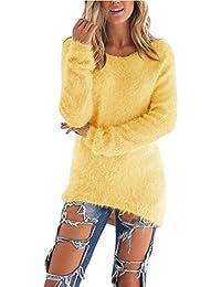 Coversolate Las mujeres de manga larga de punto jersey Suéter suelto Jumper Tops de punto
